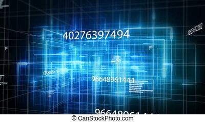 Digital code network rendering - Animation of digital code ...