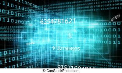 Digital code network rendering - Animation of digital ...