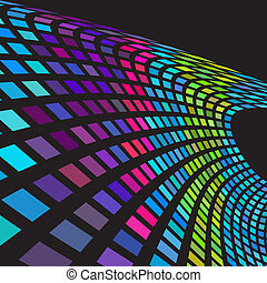 Digital colorful wave