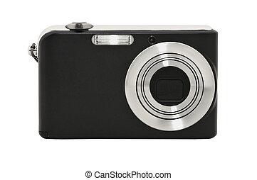 digital, compacto, câmera., isolado, branco, fundo