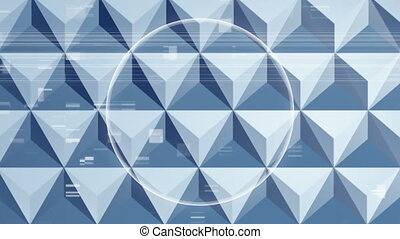 3d triangle with regular explosion circle while square ...