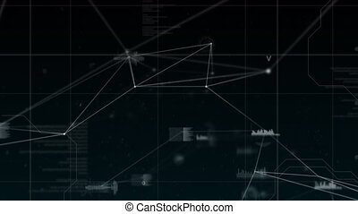 Digital composite of a blockchain technology