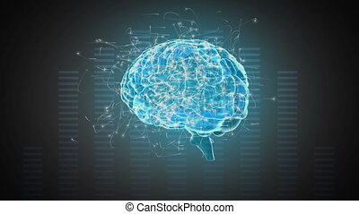 Digital composite of a brain and digital bars