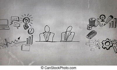 Digital composite of a business meeting