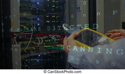 Digital composite of a cyber attack
