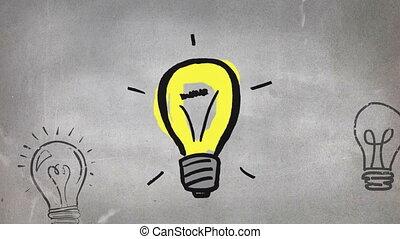 Digital composite of an idea concept