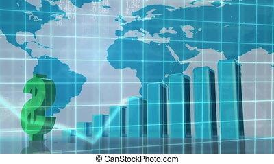 bar chart and graph growing