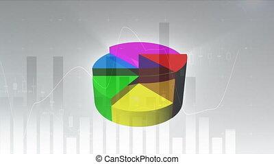 Digital composite of Colourful 3d pie chart