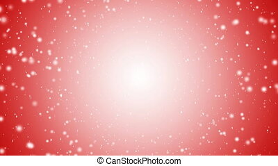 Falling snow with red Christmas background