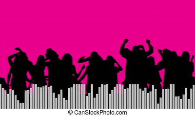 Digital composite of people dancing