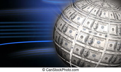 Digital composite of World dollar globe