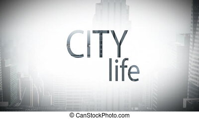 Digital composite video of city life