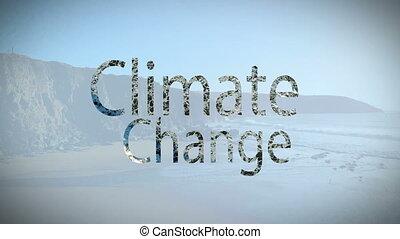 Digital composite video of climate change concept
