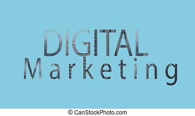 Digital composite video of digital marketing concept