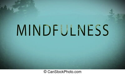 Digital composite video of mindfulness concept