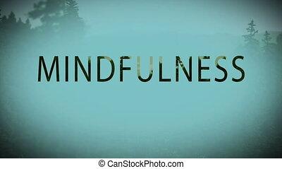 Digital composite video of mindfulness concept