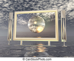 digital composition of a surrealistic scene