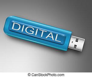 Digital concept.