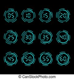 Digital countdown timer