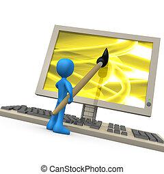 Digital Creativity - Computer generated image - Digital...