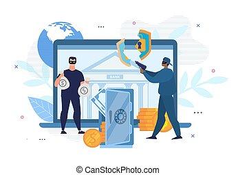 Digital Crimes, Hacking, E-Bank Account Attack - Digital...