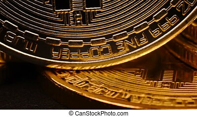 Digital currency. Cryptocurrency - Silver And Golden Digital...