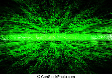 cyberspace - digital cyberspace 3d abstract network concept