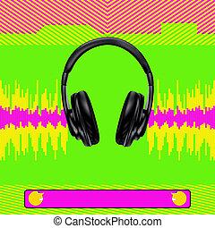 Digital Dance Flyer - Background illustration with...