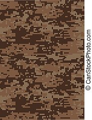Digital dark brown military camouflage texture background