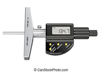 Digital Depth Micrometer, 3D rendering