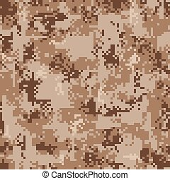 Digital Desert Camouflage Seamless Pattern