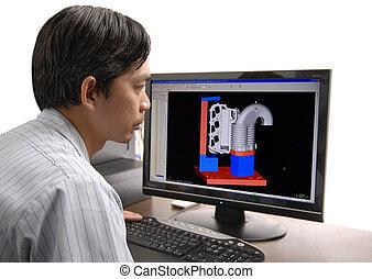 Digital Designer - A young digital designer a work with a...