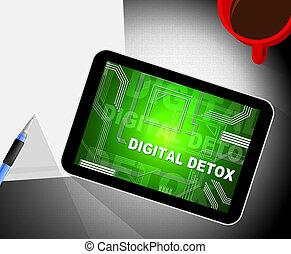 Digital Detox Digital Gadget Cleanse 2d Illustration