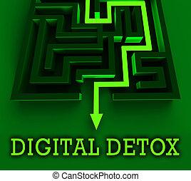 Digital Detox Digital Gadget Cleanse 3d Rendering