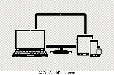 Digital devices black icons