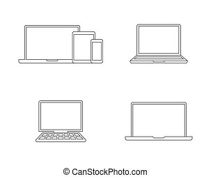 Digital devices outlines icons