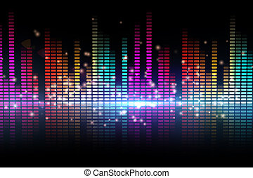 Digital disco design in different colours