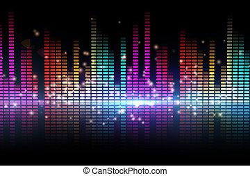 Digital disco design in different colours