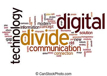 Digital divide word cloud - Digital divide concept word...