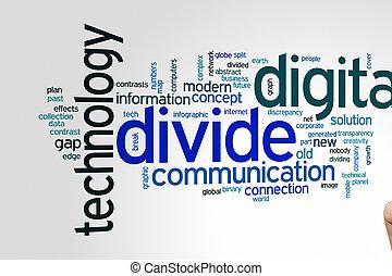 Digital divide word cloud