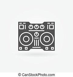 Digital DJ controller icon - vector simple dj sign or logo...