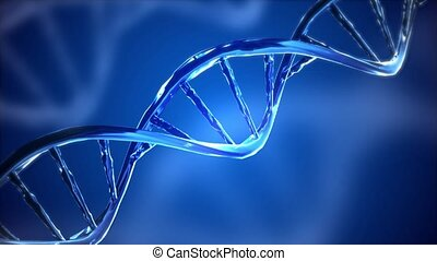 Digital DNA genome double helix animation. future bio technology, medicine, gene therapy, engineering, AI synergy Genetics biology, biotechnology, chemistry, science, cosmetics, Medical Presentation.