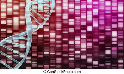 Digital DNA molecule on a cyber background