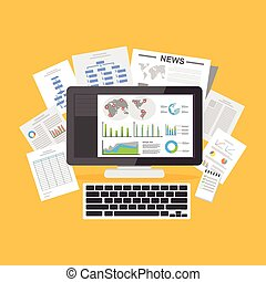 Digital documents. Online articles. Information Resources.