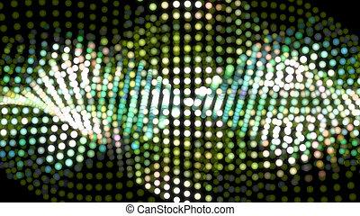 digital dot graph green