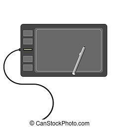 digital drawing flat design concept.