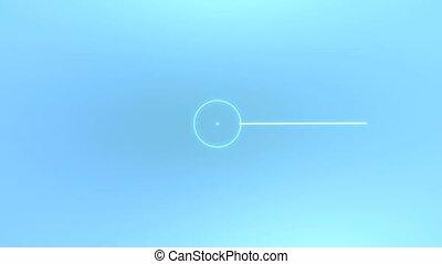 Digital droplet - Abstract digital droplet for video...