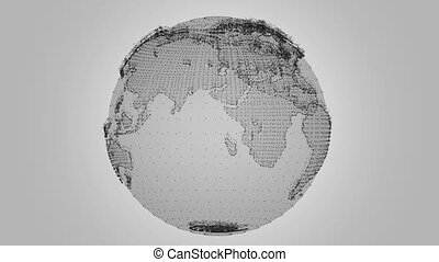 Digital Earth Rotating