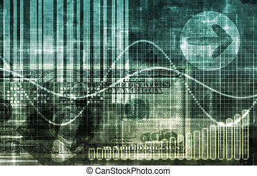 Digital Economy Abstract Business Concept Wallpaper ...