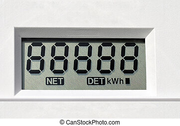 digital electric meter - Digital electric meter display...